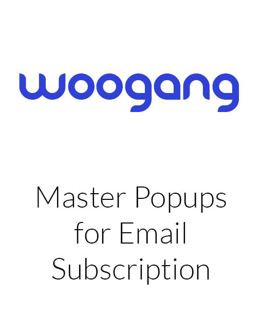 Master Popups for Email Subscription