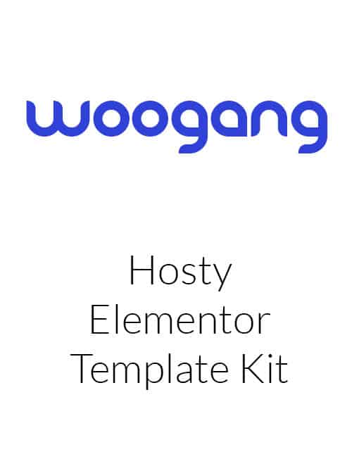 Hosty - Hosting Services Elementor Template Kit